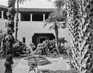 Primary view of object titled '[McNay Art Institute, (Interior courtyard)]'.