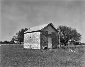 Primary view of object titled '[Pierson-Mackey out Building, (Southwest oblique)]'.