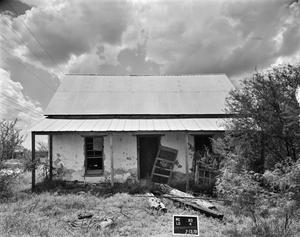 Primary view of object titled '[Los Ojuelos Ranch, (Garcia Ranch House, East oblique)]'.