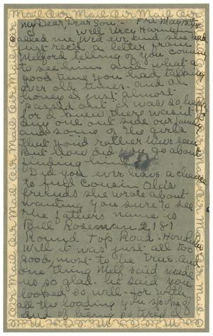 [Letter by Edith Wilson Sutherlin to James E. Sutherlin - 05/18/1945]