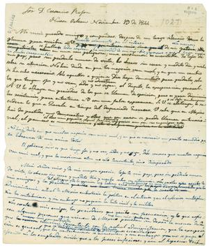 Primary view of object titled '[Draft of letter from Valentin Gomez Farias to Crescencio Rejón]'.