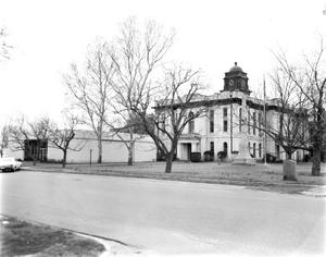 Primary view of object titled '[Bastrop County Courthouse, (Northeast oblique)]'.