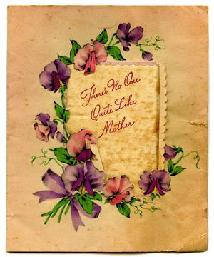 Primary view of object titled '[Mothers' Day Card from James Edgar Sutherlin to Edwith Wilson Sutherlin]'.