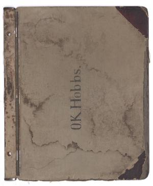 Primary view of object titled '[O. K. Hobbs Plat Book]'.