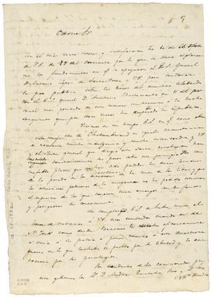 Primary view of [Lorenzo de Zavala] to Manuel Gómez Pedraza. Toluca. Rubric only. Dec. 28, 1832