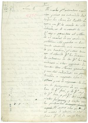 Primary view of [Manifiesto o Memoria.]