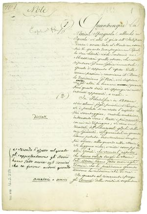Primary view of object titled '[Manifiesto de Liorna.]'.