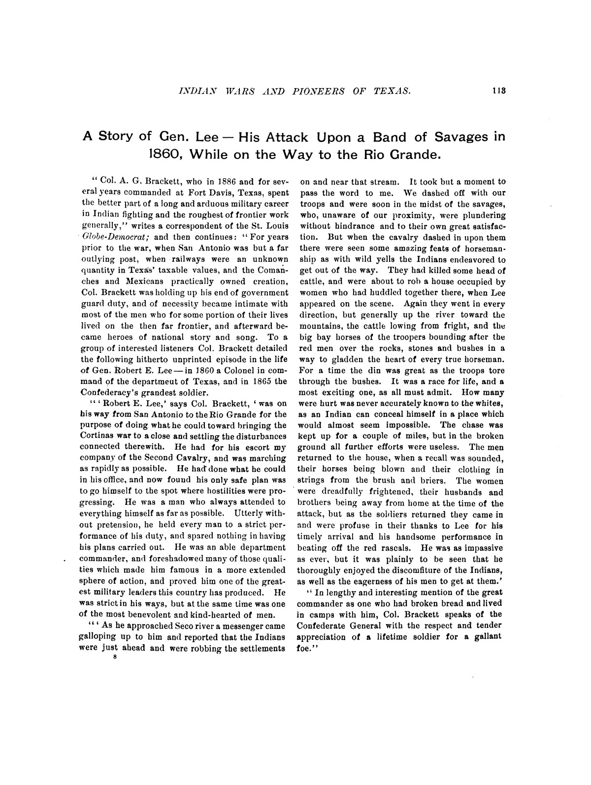 Indian wars and pioneers of Texas / by John Henry Brown.                                                                                                      [Sequence #]: 125 of 894