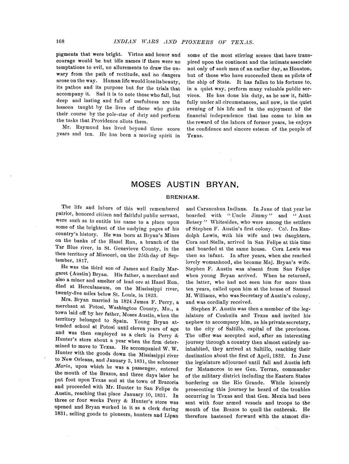 Indian wars and pioneers of Texas / by John Henry Brown.                                                                                                      [Sequence #]: 184 of 894