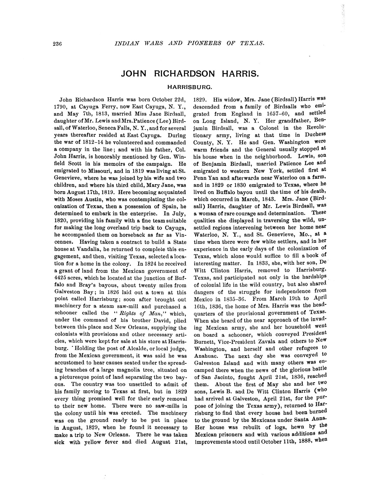 Indian wars and pioneers of Texas / by John Henry Brown.                                                                                                      [Sequence #]: 264 of 894