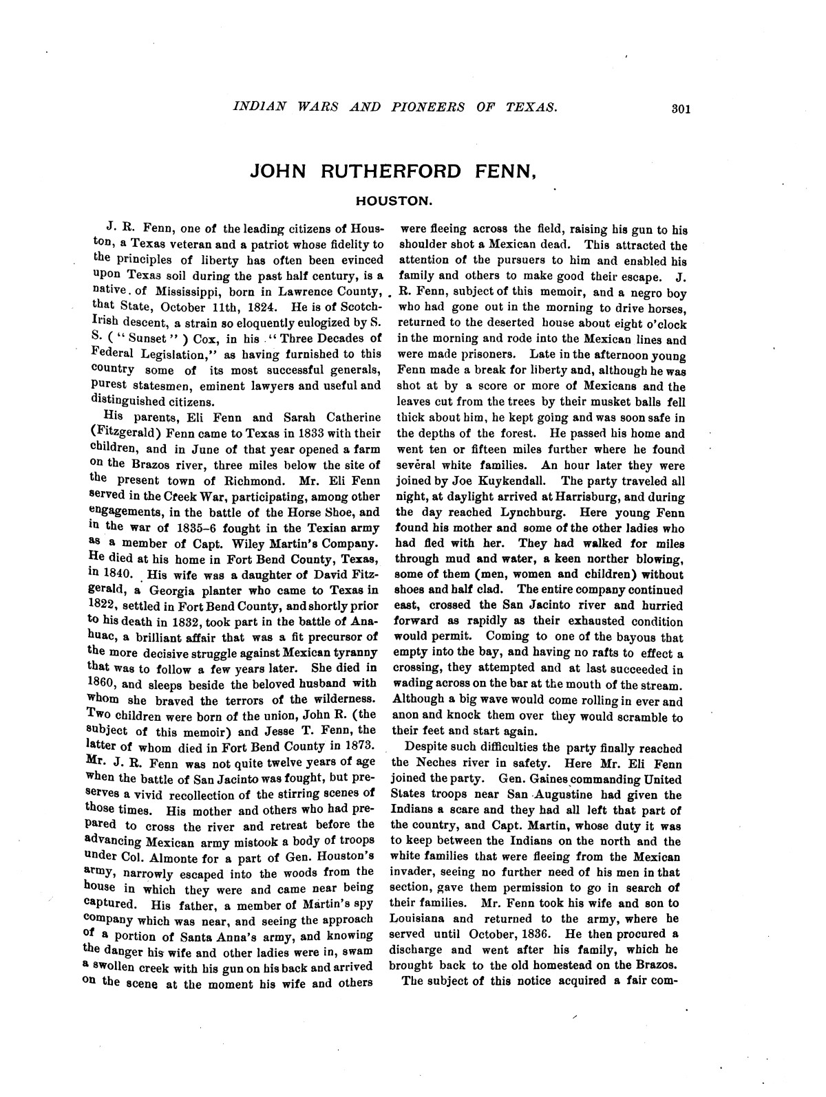 Indian wars and pioneers of Texas / by John Henry Brown.                                                                                                      [Sequence #]: 354 of 894