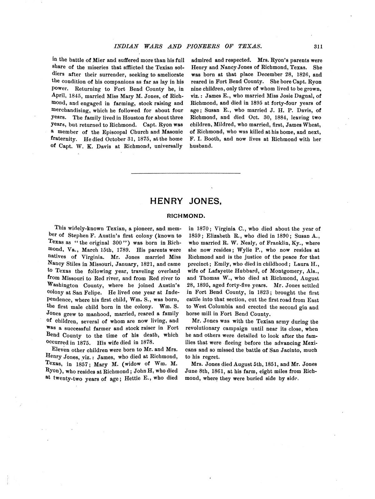 Indian wars and pioneers of Texas / by John Henry Brown.                                                                                                      [Sequence #]: 368 of 894