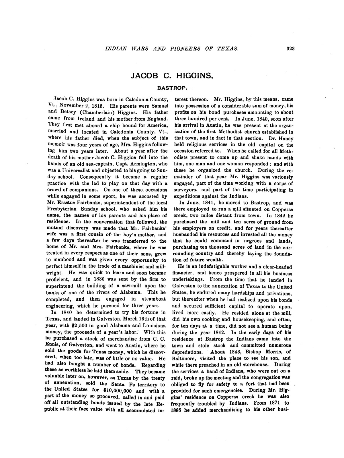 Indian wars and pioneers of Texas / by John Henry Brown.                                                                                                      [Sequence #]: 383 of 894