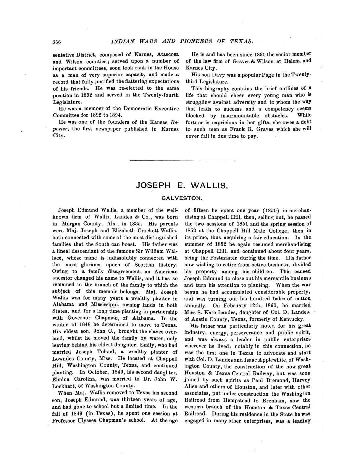 Indian wars and pioneers of Texas / by John Henry Brown.                                                                                                      [Sequence #]: 441 of 894