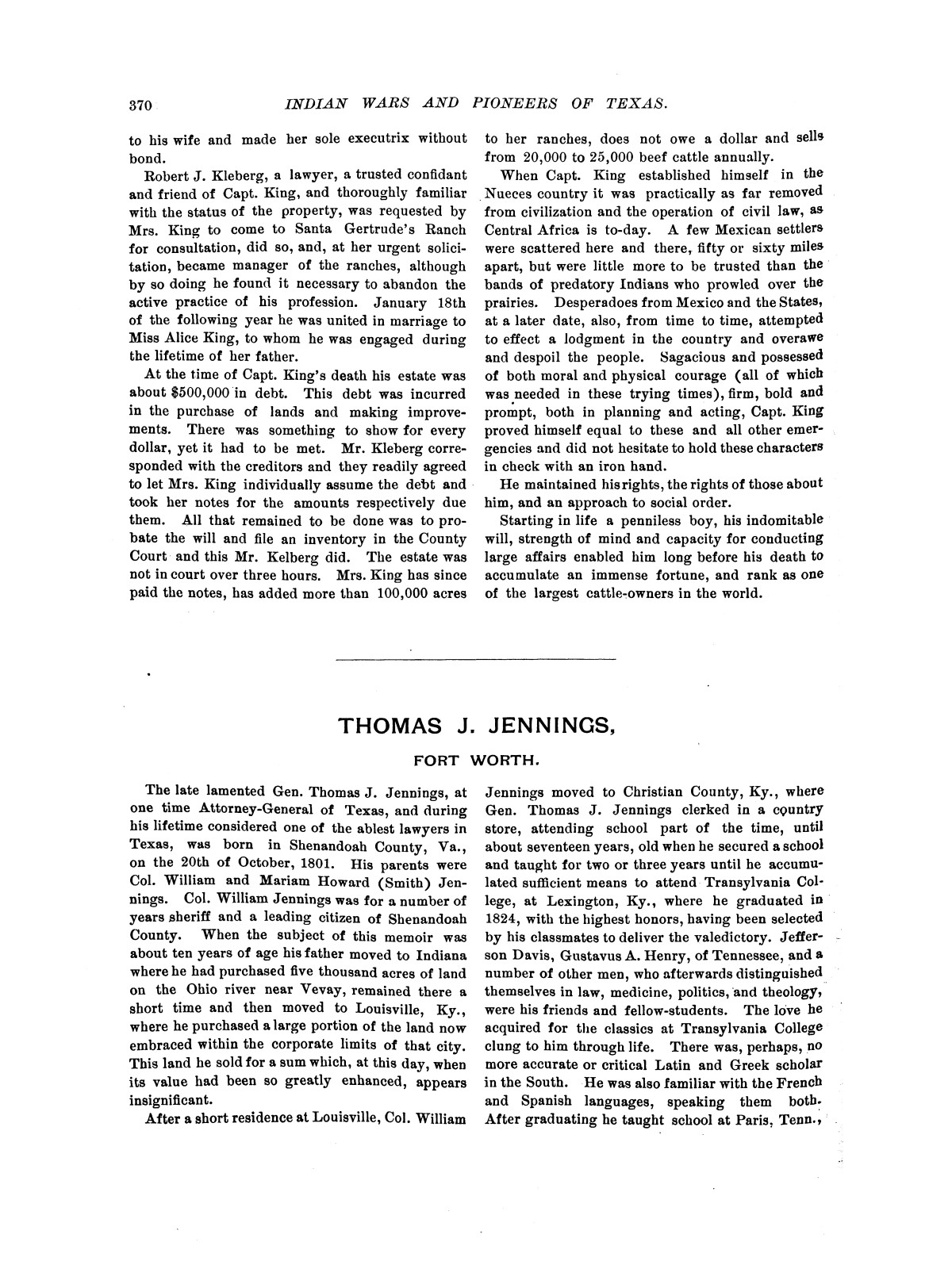 Indian wars and pioneers of Texas / by John Henry Brown.                                                                                                      [Sequence #]: 446 of 894