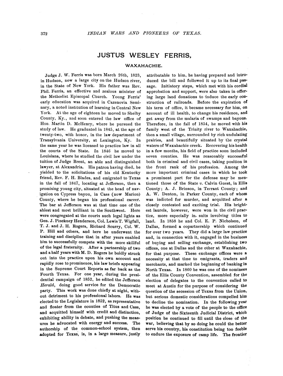 Indian wars and pioneers of Texas / by John Henry Brown.                                                                                                      [Sequence #]: 448 of 894