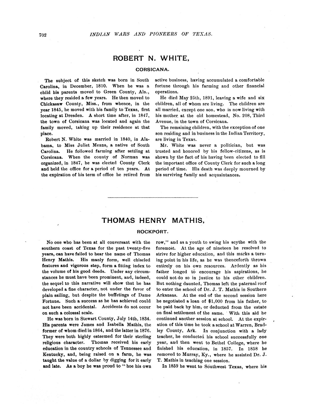 Indian wars and pioneers of Texas / by John Henry Brown.                                                                                                      [Sequence #]: 813 of 894