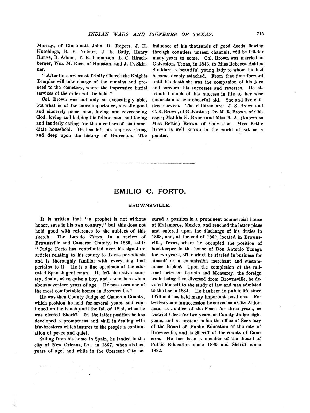 Indian wars and pioneers of Texas / by John Henry Brown.                                                                                                      [Sequence #]: 829 of 894