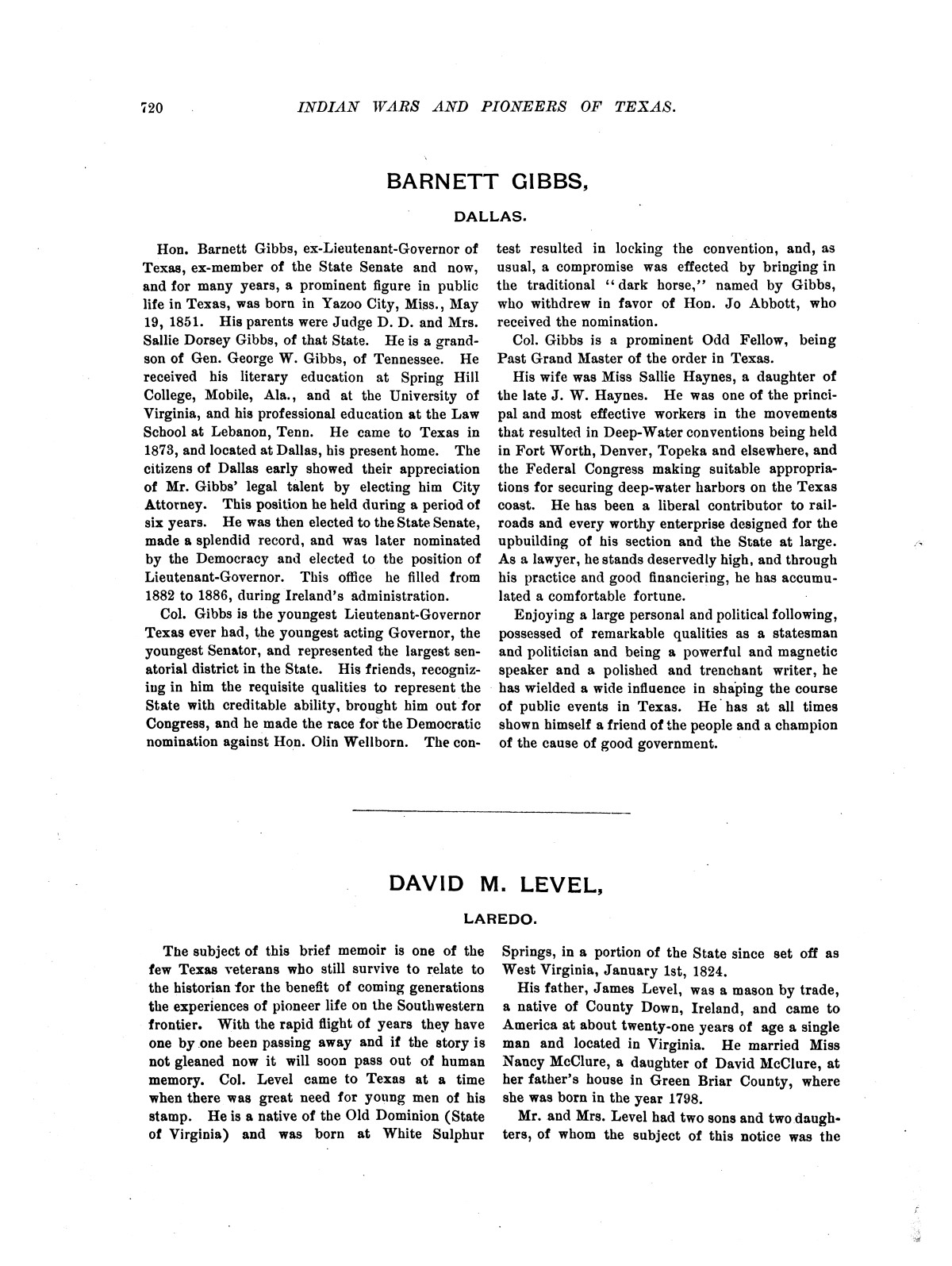 Indian wars and pioneers of Texas / by John Henry Brown.                                                                                                      [Sequence #]: 835 of 894
