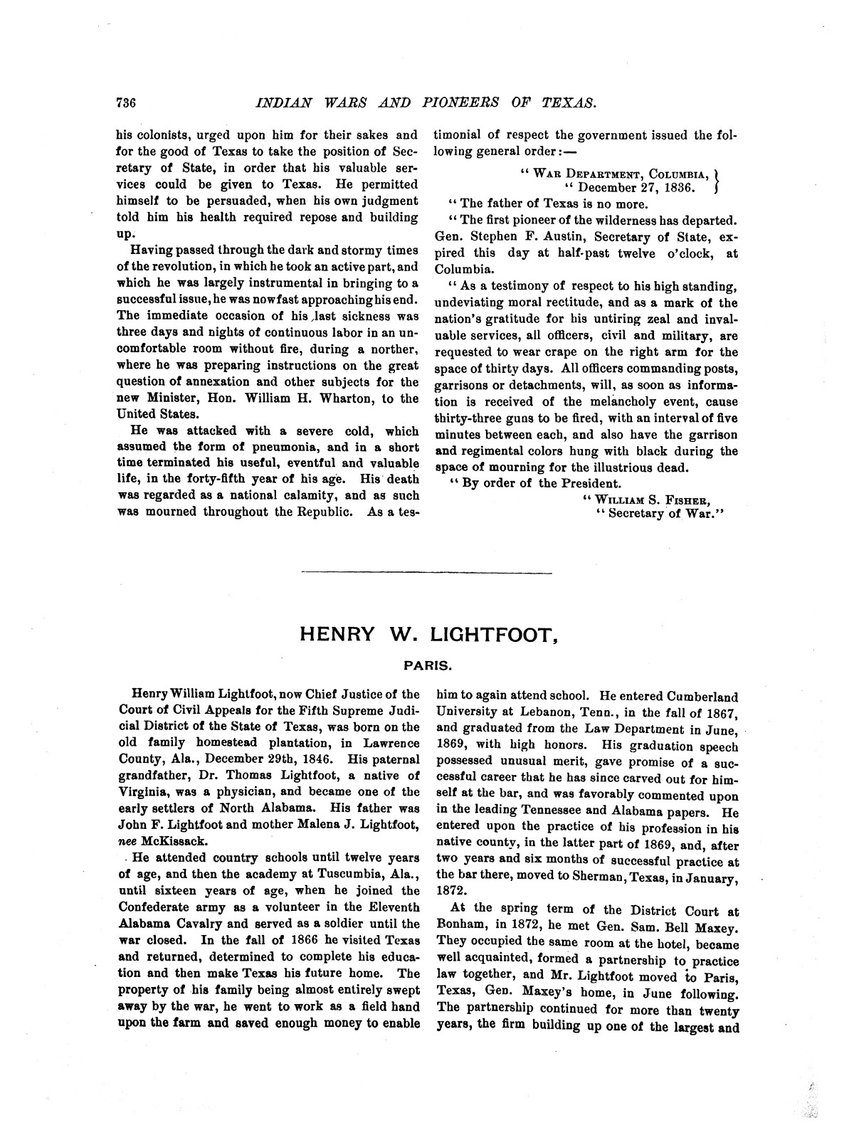 Indian wars and pioneers of Texas / by John Henry Brown.                                                                                                      [Sequence #]: 855 of 894