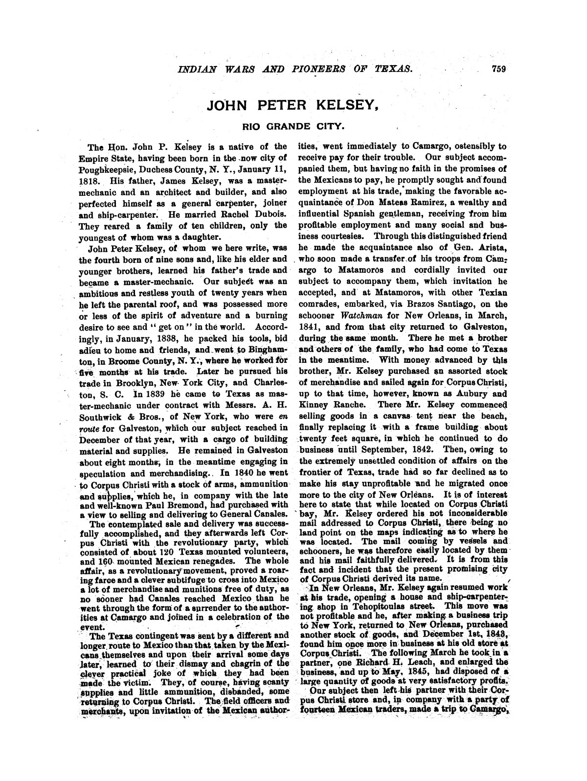 Indian wars and pioneers of Texas                                                                                                      [Sequence #]: 885 of 894