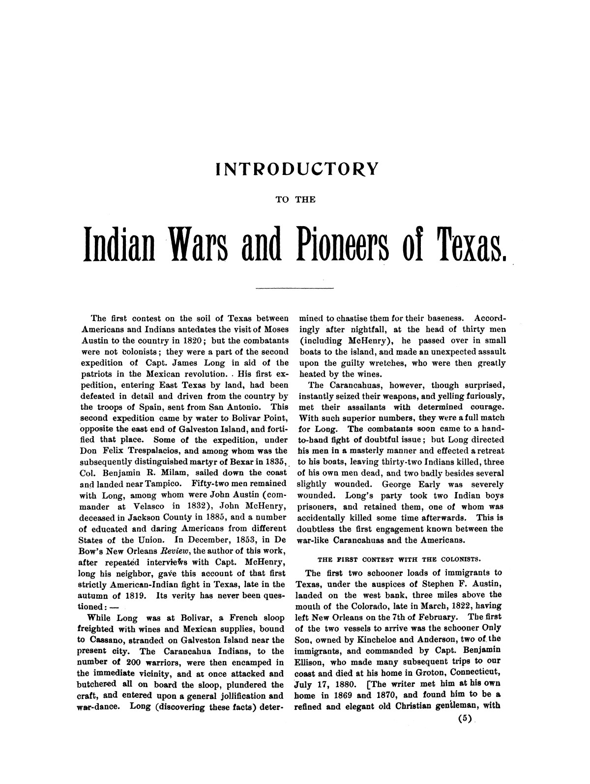 Indian wars and pioneers of Texas / by John Henry Brown.                                                                                                      [Sequence #]: 9 of 894
