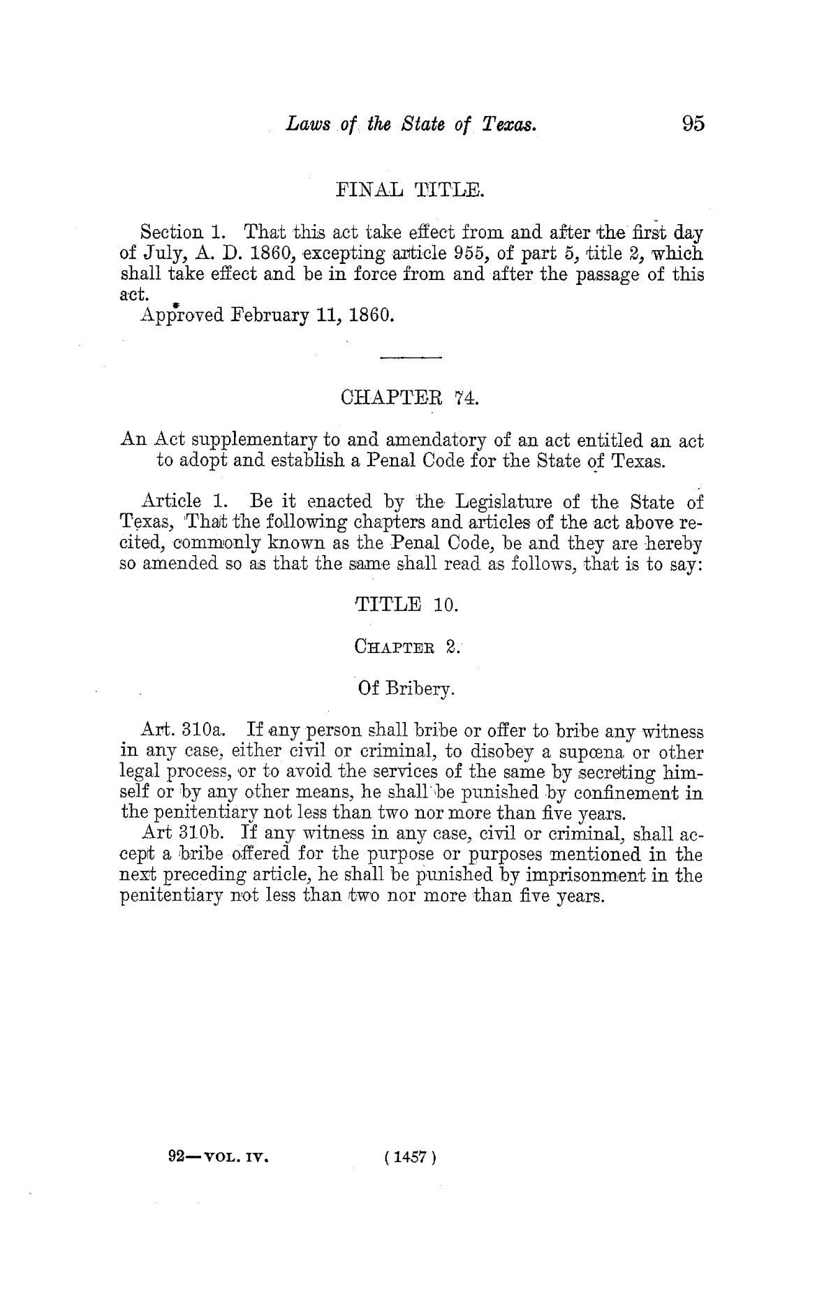 The Laws of Texas, 1822-1897 Volume 4                                                                                                      1457