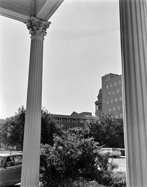 Primary view of [Wahrenberger House, (Column detail)]
