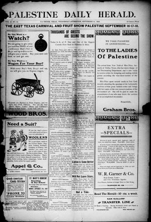 Palestine Daily Herald (Palestine, Tex), Vol. 2, No. 62, Ed. 1, Wednesday, September 16, 1903