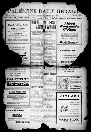Primary view of object titled 'Palestine Daily Herald (Palestine, Tex), Vol. 8, No. 230, Ed. 1, Monday, May 2, 1910'.