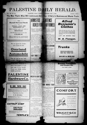 Primary view of object titled 'Palestine Daily Herald (Palestine, Tex), Vol. 8, No. 231, Ed. 1, Tuesday, May 3, 1910'.