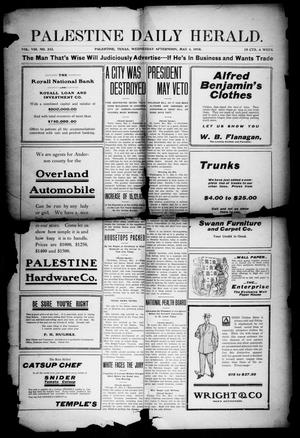 Primary view of object titled 'Palestine Daily Herald (Palestine, Tex), Vol. 8, No. 232, Ed. 1, Wednesday, May 4, 1910'.