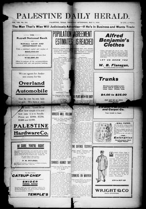 Primary view of object titled 'Palestine Daily Herald (Palestine, Tex), Vol. 8, No. 233, Ed. 1, Thursday, May 5, 1910'.