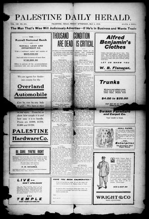 Primary view of object titled 'Palestine Daily Herald (Palestine, Tex), Vol. 8, No. 234, Ed. 1, Friday, May 6, 1910'.
