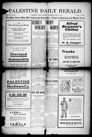 Primary view of object titled 'Palestine Daily Herald (Palestine, Tex), Vol. 8, No. 236, Ed. 1, Monday, May 9, 1910'.