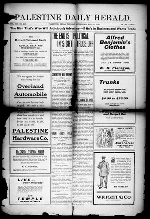 Primary view of object titled 'Palestine Daily Herald (Palestine, Tex), Vol. 8, No. 237, Ed. 1, Tuesday, May 10, 1910'.