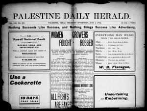 Primary view of object titled 'Palestine Daily Herald (Palestine, Tex), Vol. 8, No. 257, Ed. 1, Thursday, June 2, 1910'.