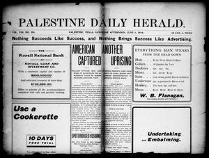 Primary view of object titled 'Palestine Daily Herald (Palestine, Tex), Vol. 8, No. 259, Ed. 1, Saturday, June 4, 1910'.