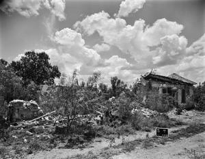 Primary view of object titled '[Los Ojuelos Ranch, (North elevation and North oblique)]'.