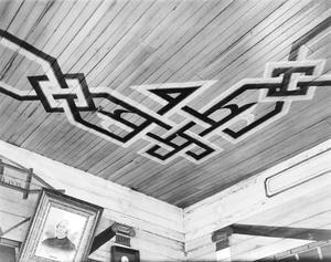 Primary view of object titled '[Wesley Brethren Church, (Ceiling detail)]'.