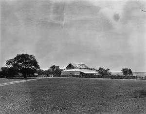 Primary view of object titled '[Questad Barn and Stone Fence, (Southeast view)]'.