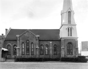 Primary view of object titled '[First Presbyterian Church, (Elevation)]'.