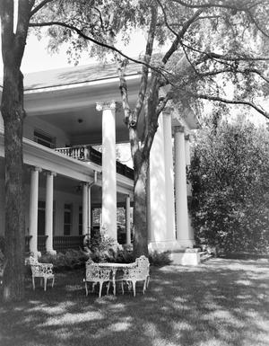 Primary view of object titled '[Hodges-Sullivan House, (Portico detail and South facade)]'.