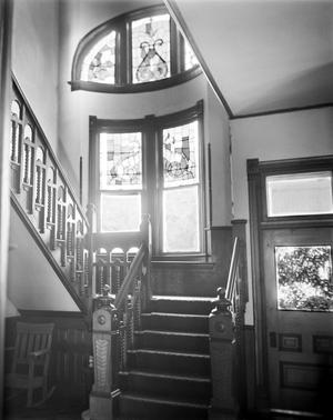 Primary view of object titled '[Link House, (Stairwell, entrance hall)]'.