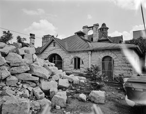 Primary view of object titled '[Dan Sullivan Carriage House, (Southeast oblique)]'.