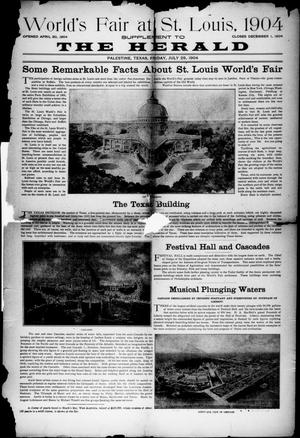 Primary view of object titled 'Palestine Daily Herald (Palestine, Tex), Vol. 3, No. 21, Ed. 1, Friday, July 29, 1904'.