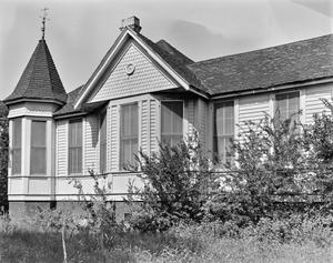 Primary view of object titled '[Haynes-DeLashwah House, (West elevation)]'.