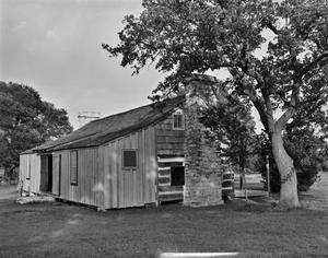 Primary view of object titled '[Dog Run Log House]'.