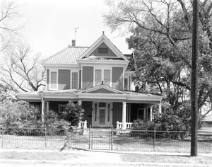 Primary view of object titled '[E.C. Erhard House, (Front elevation)]'.
