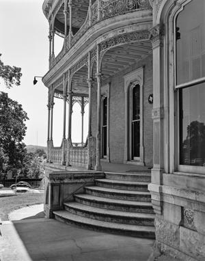 Primary view of object titled '[John Bremond House, (East porch detail)]'.
